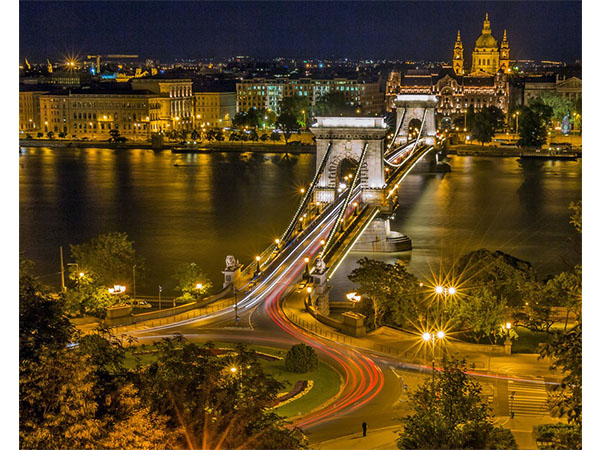 Hungary's The Chain Bridge over the River Danube